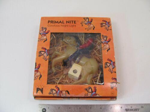 VINTAGE SUE SCOTT PRIMAL LITE NIGHT LIGHT COWBOY WESTERN W/ SENSOR
