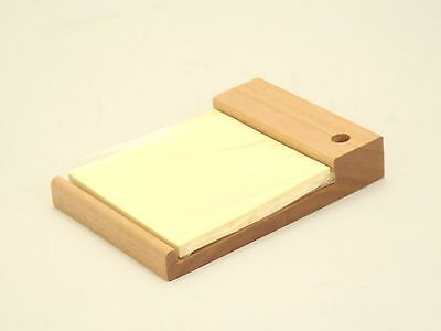 Jcf Solid Wood Cherry Finish 3 X 3 Memo Holder W Post It Note