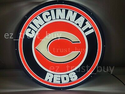 "New Cincinnati Reds LED 3D Neon Sign 20"" Bar Lamp Decor Poster"
