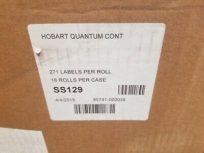 Hobart Quantum Continuous Strip 2.406 X 271 271 Labels Per Roll 16 Rolls Ss129
