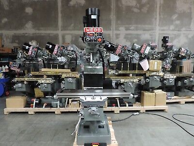 Webb Champ 2-evs Electronic Variable Speed Milling Machine