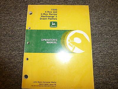 John Deere 7200 4 6 Row Narrow Drawn Planter Owner Operator Manual Omh138091