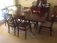 Stunning solid jarrah top 8 seater dining room table and chairs Hazelwood Park Burnside Area Preview
