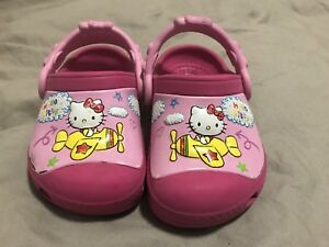 Toddler Crocs - pink Hello Kitty