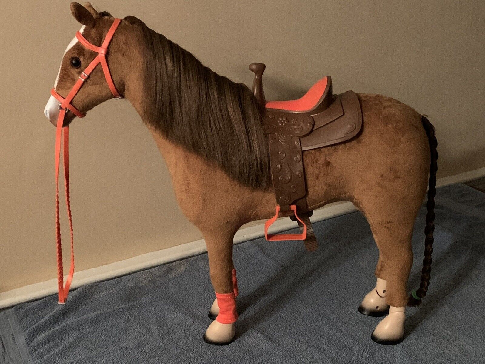My Life 18-Inch Poseable Brown Horse Brown Coat Mane With Saddle For 18 Dolls - $15.00