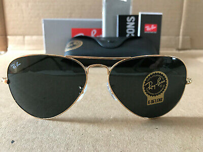 Ray Ban Aviator Sunglasses Gold Frame / Crystal Green Lens (Ray Ban Crystal Green)