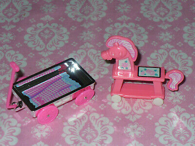 Mattel Barbie Doll WAGON and Ride-On HORSE for Kelly Chelsea Tommy Dolls Toy