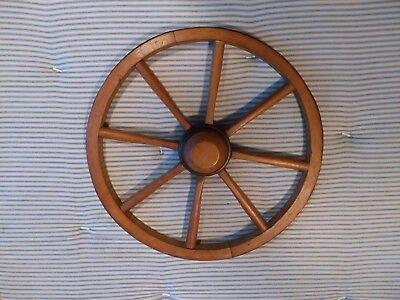 Vintage old wooden cart wagon wheel  / 47 cm