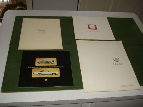 VINTAGE CADILLAC CAR BROCHURES- 1971, 1973, 1975 AND 1979