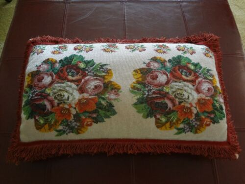VICTORIAN HAND BEADED PILLOW