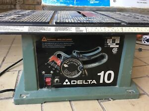 """10"""" Delta bench top saw"""