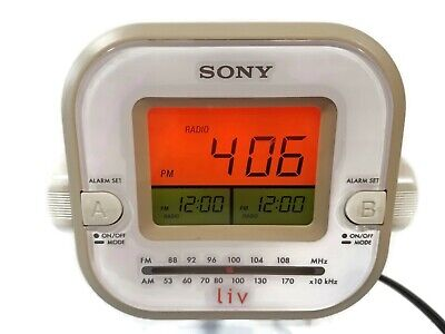 Sony Dream Machine Liv Dual Alarm Clock-Radio ICF-C180 AM/FM Beige