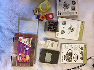 Stampin' Up Stamps and various punches