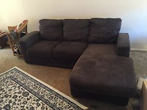 4 seater suede fabric couch incl chaise Nunawading Whitehorse Area Preview
