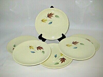 Thanksgiving Plates Dinnerware (Franciscan Autumn 6 Bread Butter Plates Leaves Fall Thanksgiving Dinnerware)
