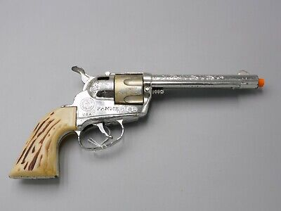 VINTAGE OLD 1959-65 MATTEL FANNER 50 REWIND GOLD CYLINDER BULLETS CAP GUN  CG08