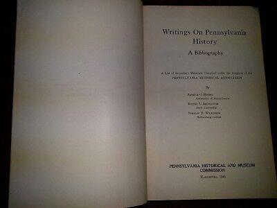 Writings on Pennsylvania History A Bibliography, Bining 1946, PA Historical