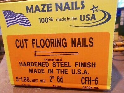 5 Lbs Maze Nails Cut Flooring Nails 6d X 2 Hardened Steel Usa Made