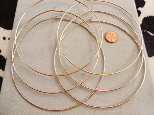 Vintage NOS lot of 6 old school early 70s gold tone choker necklaces DB