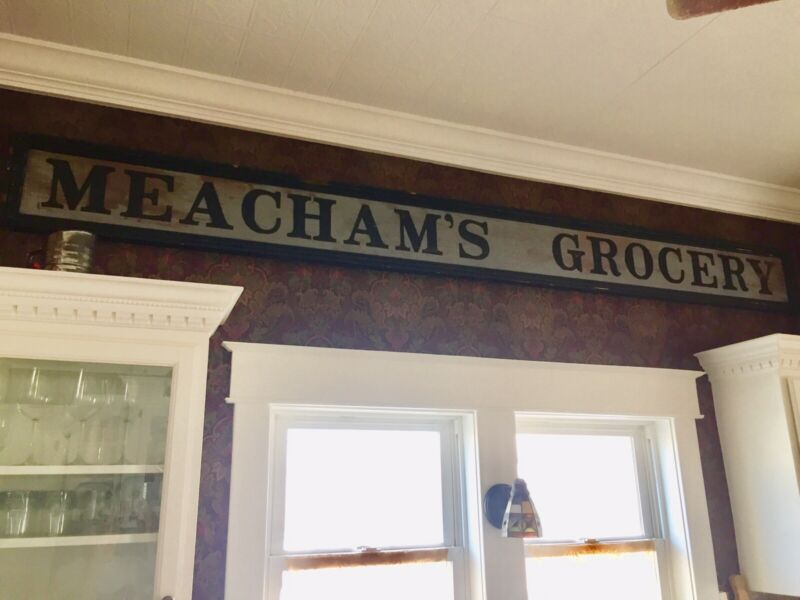 Authentic Antique Grocery Sign Circa 1900