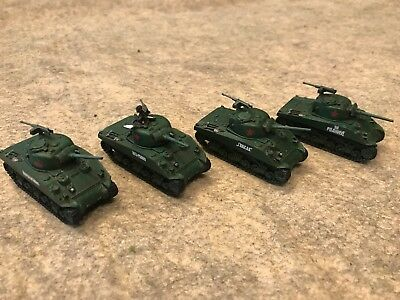 Used, 15mm WW2 Painted Soviet Lend Lease M4 Sherman Tanks FoW Bolt Action Rapid Fire for sale  Riverview