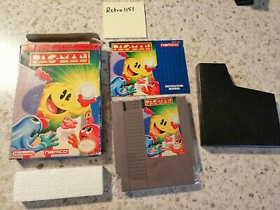 Pac-Man (Nintendo Entertainment System, 1990) - COMPLETE IN BOX - CIB - NAMCO