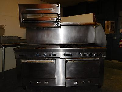 Us Range Commercial Gas Stove 6-burner With Double Oven Broiler Griddle