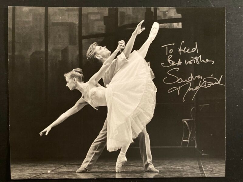 Signed ballet ballerina photo of Sandra Madgwick UK Royal Ballet by Leslie Spatt