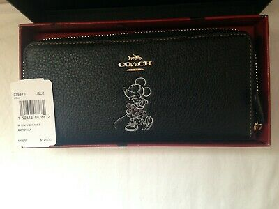 NWT/NIB Coach Disney X Minnie Mouse Slim Accordion wallet -37537B LIBLK