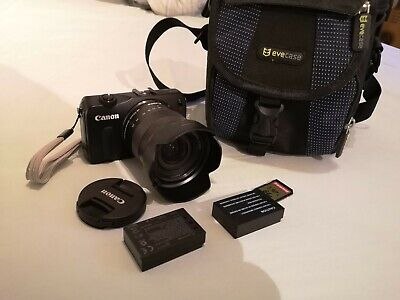 Canon EOS M 18.0 MP Camera, EF-M 18-55mm Lens, PLUS EXTRAS