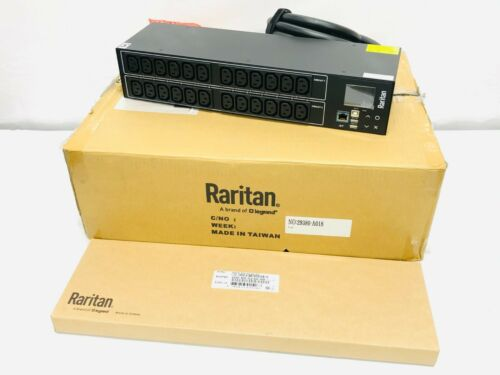 NEW Raritan PX3-1833R PDU PX3 Rack Mount 2U 30-Outlets NEMA L6-30P Black IN BOX
