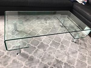Modern Glass Coffee Table & Two Side Tables