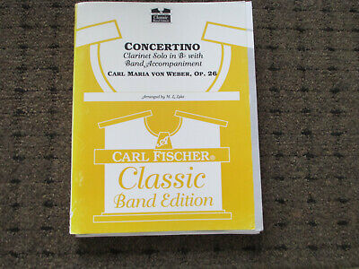 Weber Concertino for Clarinet solo - with concert band accomp. sheet music