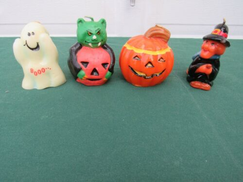 Vintage Halloween Decorative Candles - Witch, Ghost, Jack O Lantern, Vampire