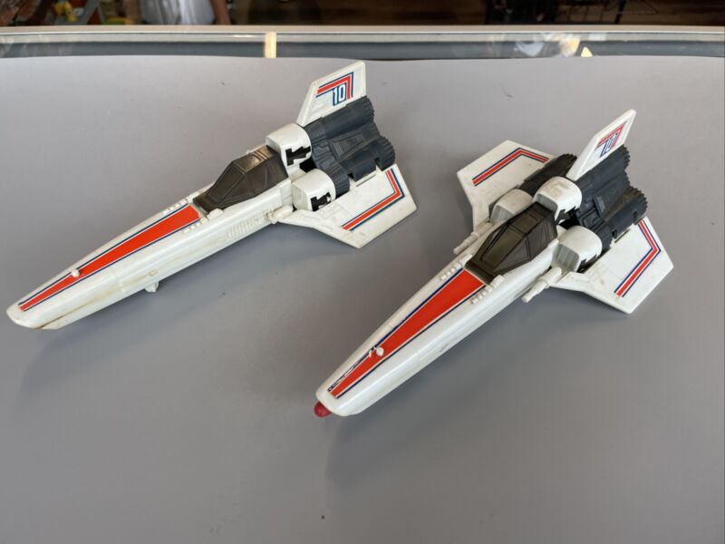 Vintage 1978 Battlestar Galactica COLONIAL VIPER Spaceship Mattel Lot Of 2