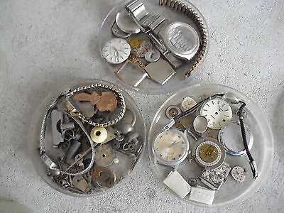 BIG Lot of Small Vintage Wrist Watch Parts LOOK