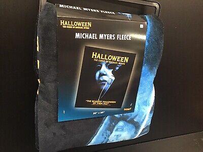 "Spirit Halloween The Curse Of Michael Myers Fleece Blanket 50"" X 60"" New"