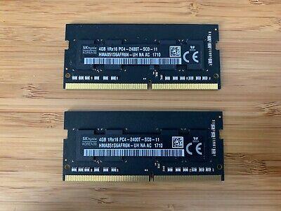 Hynix 8GB (2 x 4GB) of PC4-2400T-SC0-11 SO-DIMM RAM for iMac PN:HMA81GS6AFR8N-UH
