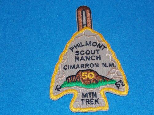 50TH ANNIVERSARY BSA Philmont Arrowhead MTN Mountain Trek - PLASTIC BACK - MINT