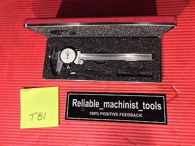 American Made Starrett 6 Dial Caliper Offset Jaw Model 120j Machinist Tool T81
