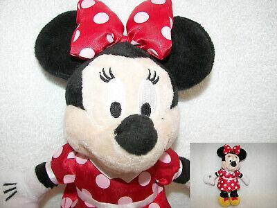 "Minnie Mouse Plush Doll In red poka dot satin dress  10"" New"