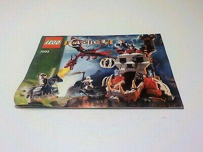 Lego 7093 Castle Skeleton Tower set Instruction manual only