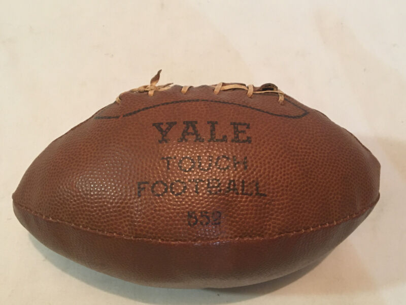 YALE University Vintage Football Official Size Touch Ball No Bladder