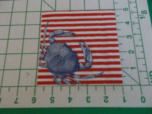 """Two Decorative Cocktail Napkins for Decoupage """"Crabs and Stripes Red"""""""