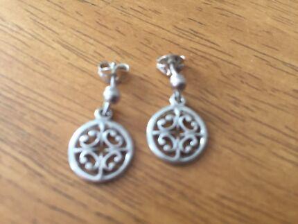 Celtic silver drop earrings NEW