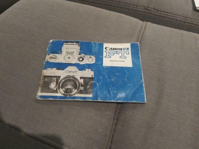 Canon FT QL Camera Instruction Manual User Guide English GC (295) CANON
