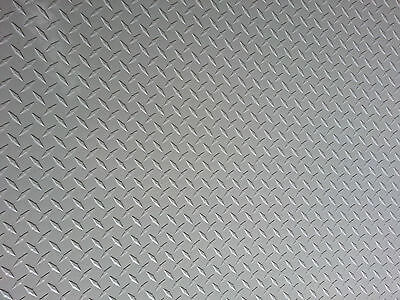 Aluminum Diamond Plate Powder Coat .045 X 22 X 48 White