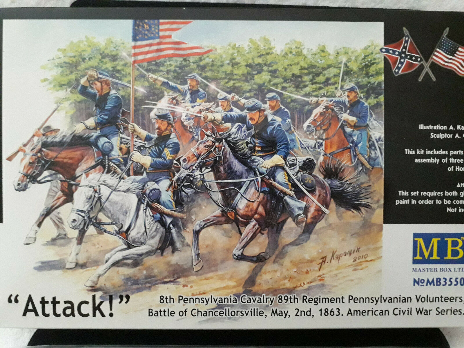 Attack! 8th Pennsylvania Cavalry 1863, im Maßstab 1:35, in OVP