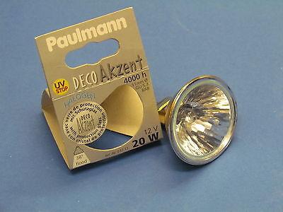 Paulmann Halogenlampe 832.72 Deco Akzent 12V 20W FLOOD 38º ø50 MR16 GU5.3 BAB  - Mr16 20w Flood