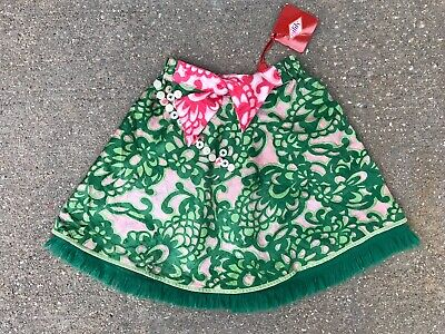 Oilily Silk Floral Print Skirt NWT 116 Size 6 Girls